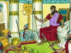 Koning Manasse, 22 Bijbelplaten voor het digibord, kleuteridee.nl , Bijbelles voor kleuters.