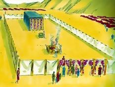 De tabernakel, 33 Bijbelplaten voor het digibord, kleuteridee.nl , Bijbelles voor kleuters.