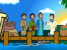 Paulus en Barnabas, Bar-Jezus en Elymas, 20 Bijbelplaten voor het digibord, kleuteridee.nl , Bijbelles voor kleuters.