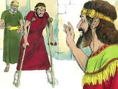 David en Mefiboseth, 9 Bijbelplaten voor het digibord, kleuteridee.nl , Bijbelles voor kleuters.
