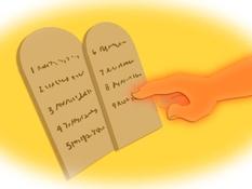De tien geboden, 18 Bijbelplaten voor het digibord, kleuteridee.nl , Bijbelles voor kleuters.