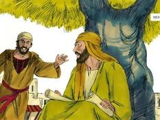 Petrus, Filippus en Nathanaël, 13 Bijbelplaten voor het digibord, kleuteridee.nl , Bijbelles voor kleuters.