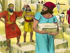 Nehemia bouwt de muren op, 15 Bijbelplaten voor het digibord, kleuteridee.nl , Bijbelles voor kleuters.