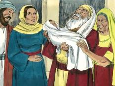 Simeon en Anna, 8 Bijbelplaten voor het digibord, kleuteridee.nl , Bijbelles voor kleuters.