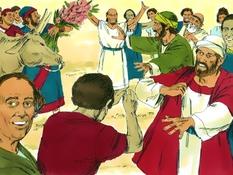 Paulus in Derbe en Lystre, 13 Bijbelplaten voor het digibord, kleuteridee.nl , Bijbelles voor kleuters.