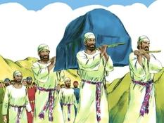 David brengt de ark naar Jeruzalem, 18 Bijbelplaten voor het digibord, kleuteridee.nl , Bijbelles voor kleuters.