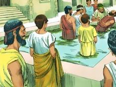 Paulus in Korinthe, 14 Bijbelplaten voor het digibord, kleuteridee.nl , Bijbelles voor kleuters.