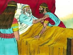 Salomo tot koning gezalfd, 14 Bijbelplaten voor het digibord, kleuteridee.nl , Bijbelles voor kleuters.
