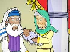 Simeon en Anna, 17 Bijbelplaten voor het digibord, kleuteridee.nl , Bijbelles voor kleuters.