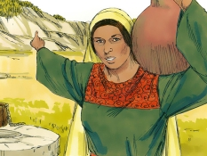 De Samaritaanse vrouw, 13 Bijbelplaten voor het digibord, kleuteridee.nl , Bijbelles voor kleuters.