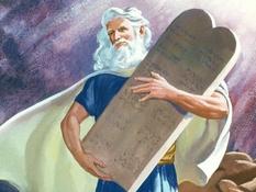 Mozes en de tien geboden, 43 Bijbelplaten voor het digibord, kleuteridee.nl , Bijbelles voor kleuters.