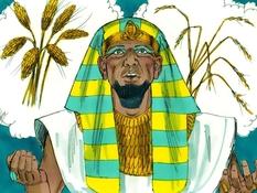 Dromen van Farao, 14 Bijbelplaten voor het digibord, kleuteridee.nl , Bijbelles voor kleuters.