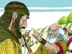 Koning Achaz, 22 Bijbelplaten voor het digibord, kleuteridee.nl , Bijbelles voor kleuters.