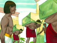 Mozes prins van Egypte, 15 Bijbelplaten voor het digibord, kleuteridee.nl , Bijbelles voor kleuters.