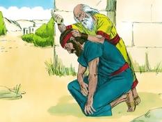 Samuël zalft Saul tot koning, 18 Bijbelplaten voor het digibord, kleuteridee.nl , Bijbelles voor kleuters.