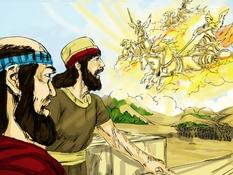Elisa en de Syriërs , 7 Bijbelplaten voor het digibord, kleuteridee , Bijbelles voor kleuters