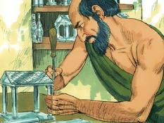 Demetrius de zilversmid, 14 Bijbelplaten voor het digibord, kleuteridee.nl , Bijbelles voor kleuters.