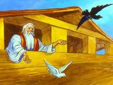 Noach en de ark, 47 Bijbelplaten voor het digibord, kleuteridee.nl , Bijbelles voor kleuters.