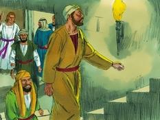 De apostelen uit de gevavngenis verlost, 11 Bijbelplaten voor het digibord, kleuteridee.nl , Bijbelles voor kleuters.