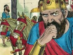 Koning Josafath en de valse profeten, 29 Bijbelplaten voor het digibord, kleuteridee.nl , Bijbelles voor kleuters.