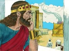 Koning Abia, 20 Bijbelplaten voor het digibord, kleuteridee.nl , Bijbelles voor kleuters.