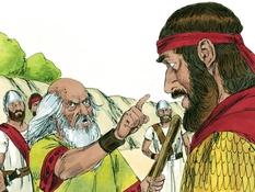 Koning Saul en de Amelekieten, 18 Bijbelplaten voor het digibord, kleuteridee.nl , Bijbelles voor kleuters.