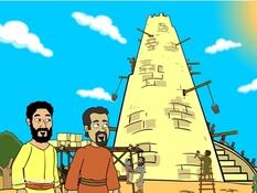 Toren van Babel, 20 Bijbelplaten voor het digibord, kleuteridee.nl , Bijbelles voor kleuters.