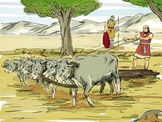 Elia zalft Elisa , 7 Bijbelplaten voor het digibord, kleuteridee , Bijbelles voor kleuters