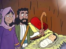 Jezus geboren, kerst, 35 Bijbelplaten voor het digibord, kleuteridee.nl , Bijbelles voor kleuters.