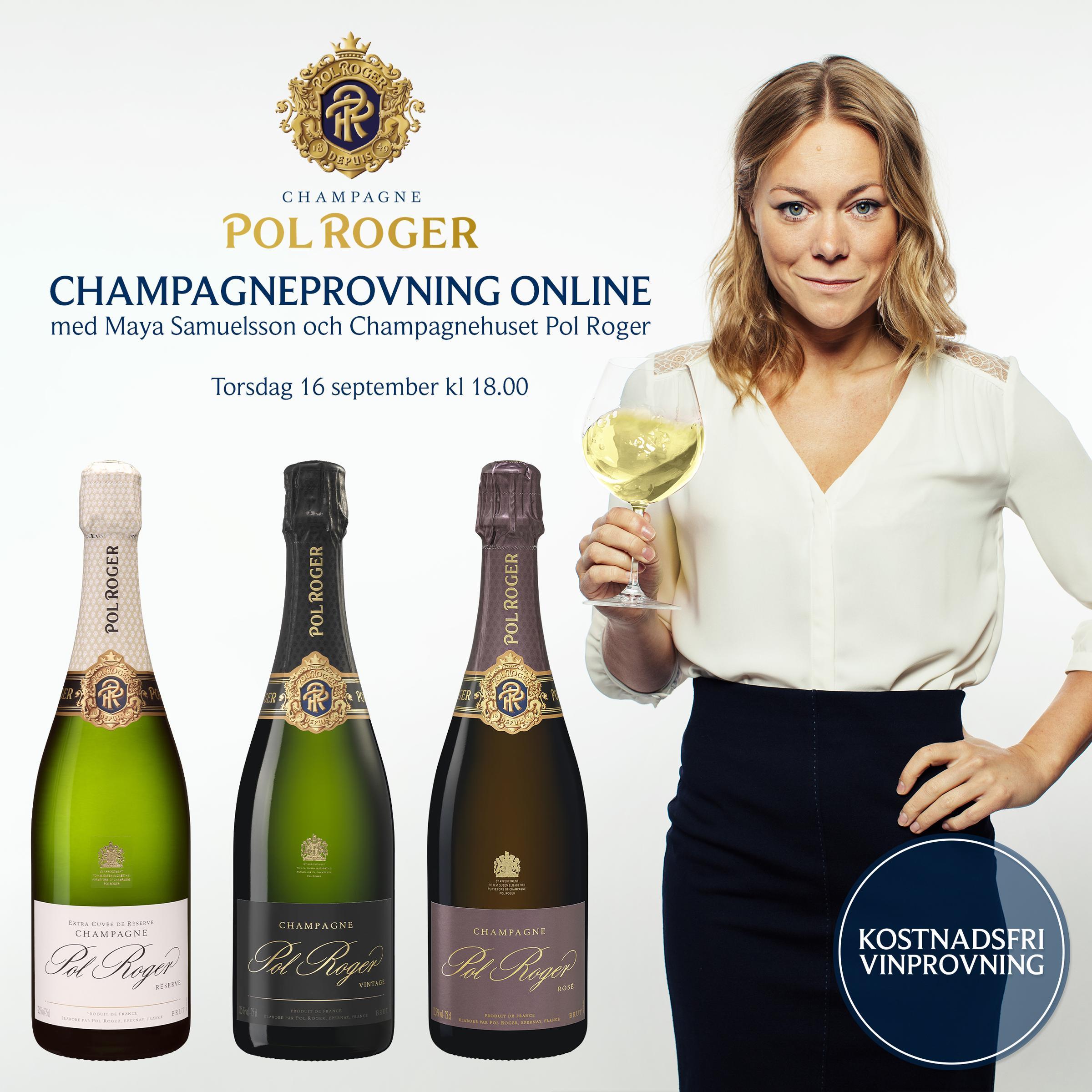 Champagneprovning med Maya Samuelsson