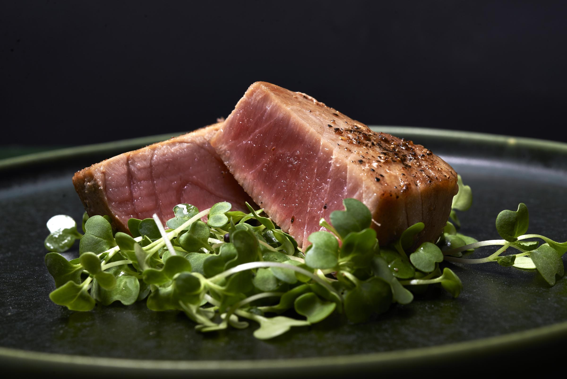 Grillad tonfisk med parmesancrème