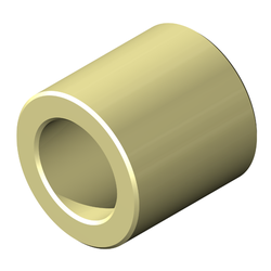 Round Spacer, Nylon, Unplated Finish, 4 mm Screw, 6.0mm OD, 6mm Length