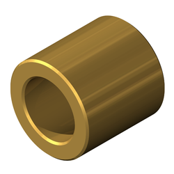 "Round Spacer, Brass, Bright Dip Finish, #10 UN Screw, 5/16"" OD, 0.25"" Length"