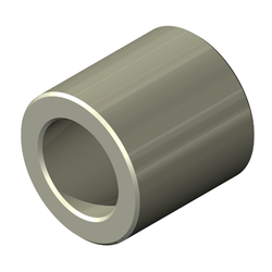 Round Spacer, Aluminum, Unplated Finish, 3 mm Screw, 4.5mm OD, 5mm Length