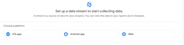 App and Web Set Up A Data Stream To Start Collecting Data