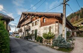 Outside view of La Ferme de Margot luxury chalet in Morzine