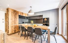 Fully-equipped modern kitchen at Douka accommodation in Morzine