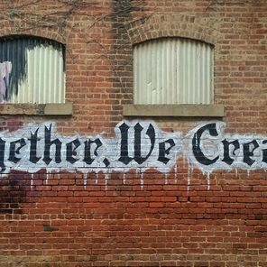 Together we create sign