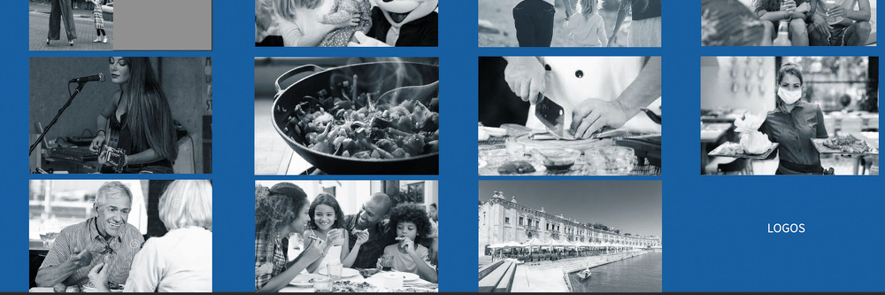 The mood board motion blur produced for this advert showing a series of black and white thumbnails to represent the shots in the commercial as described in the shot list