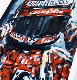 Print of auto courier, V as in Victor by Michael Kagan - detail shot