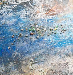 Abstract wall art print, Exile and the Kingdom by Jose Parla - detail shot