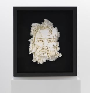 3D printed relief of face, Vista Series #2 by Vhils