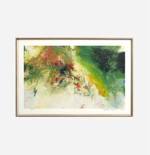 Abstract orange and green image, Between Two Poles by Wang Yan Cheng