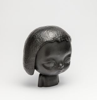 Bronze sculpture of person with tears, KIRA (Black) by Roby Dwi Antono