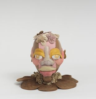 Soft sculpture of leather and cloth, Opium by Tau Lewis