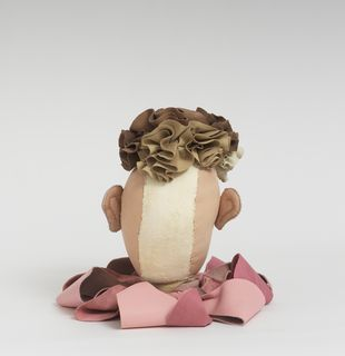 Soft sculpture of leather and cloth, Chestnut by Tau Lewis
