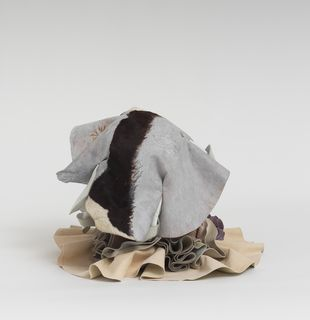 Soft sculpture of leather and cloth, Stratus by Tau Lewis