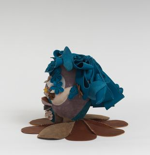 Soft sculpture of leather and cloth, Grove by Tau Lewis