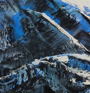 Snowy blue mountain, Nevertheless #9 by Conrad Jon Godly - detail shot