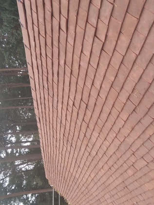 Clay hand made  roof  install Canford Cliffs Dorset